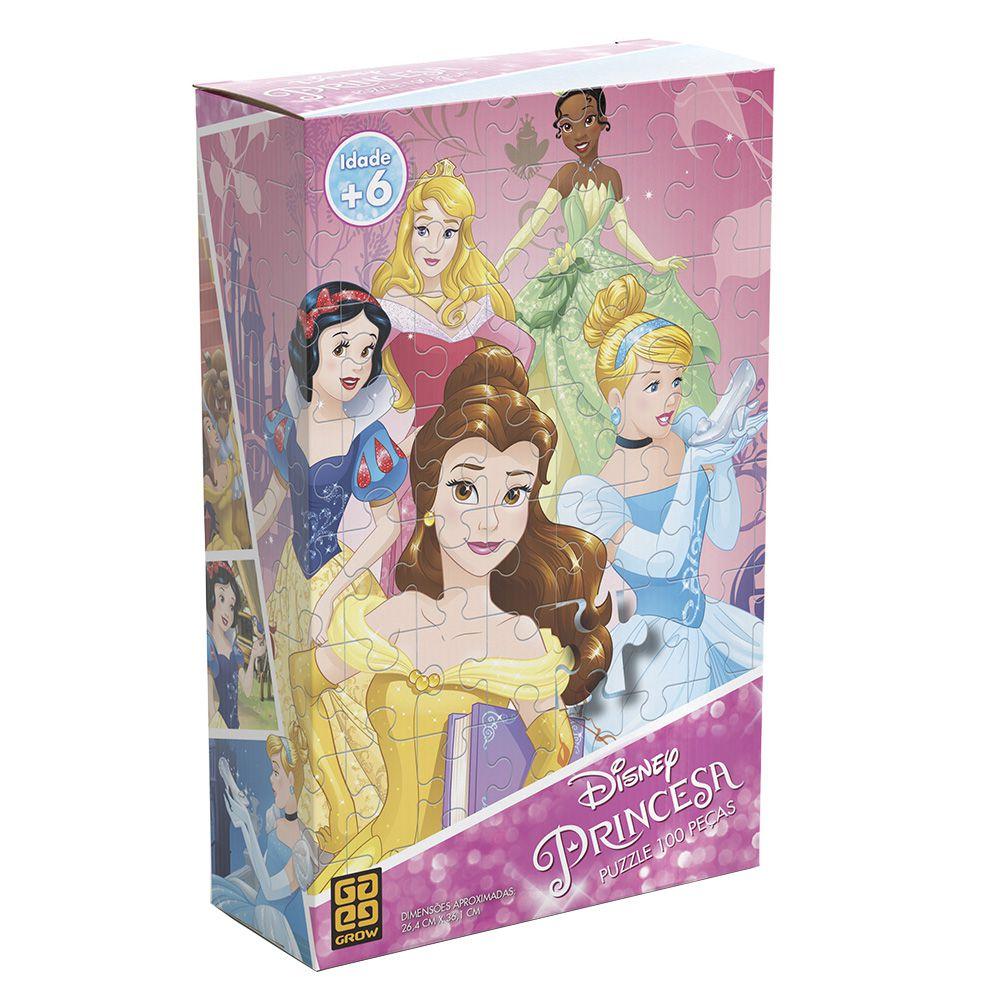 Quebra-Cabeça - Princesas Disney - 100 peças - Grow