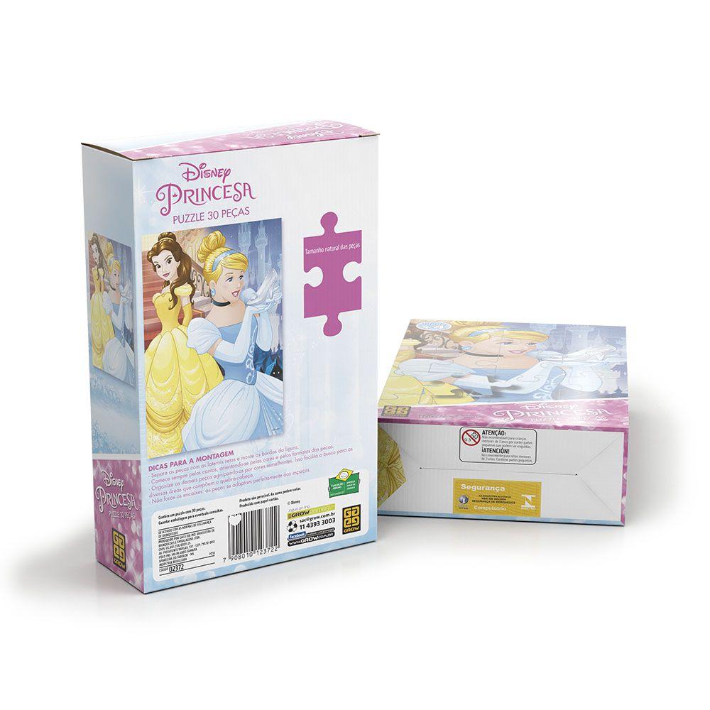 Quebra-Cabeça - Princesas Disney - 30 peças - Grow