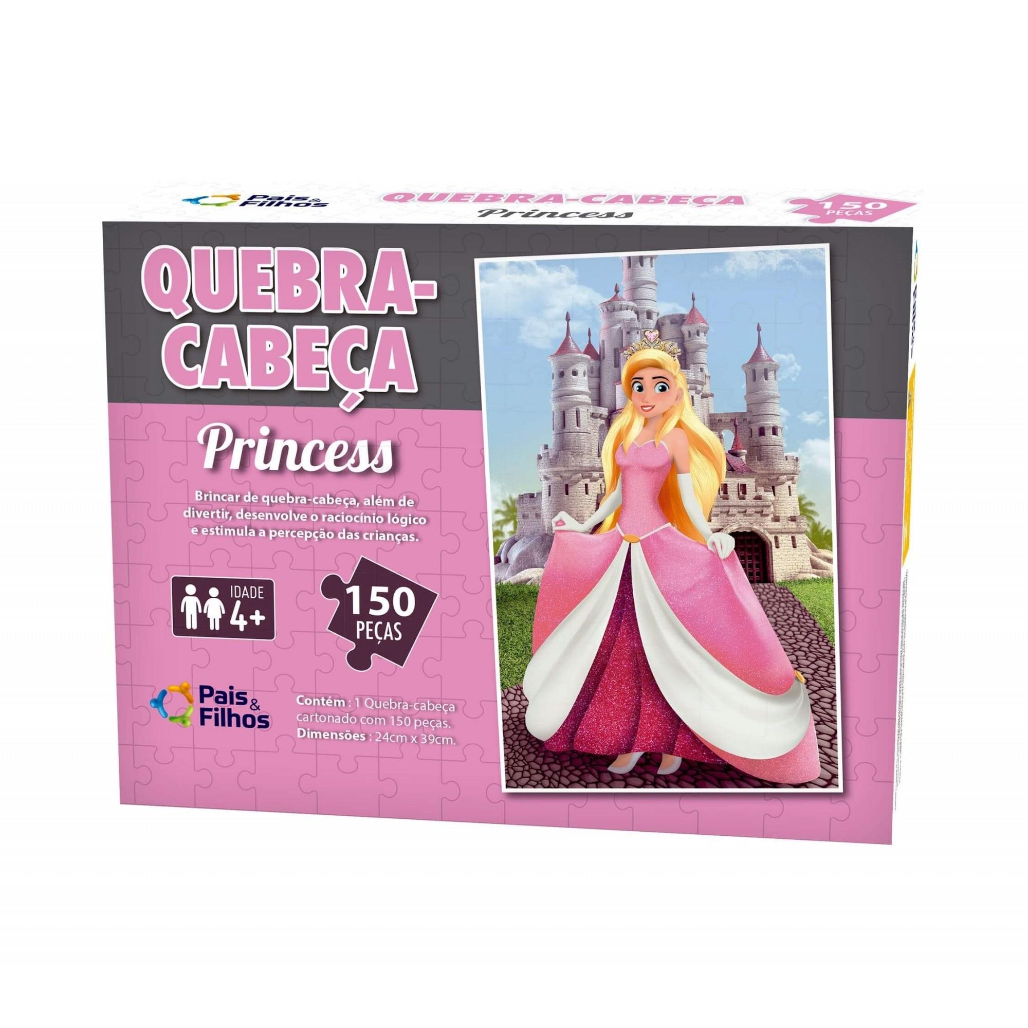 Quebra-Cabeça - Princess - 150 Peças - Pais e Filhos