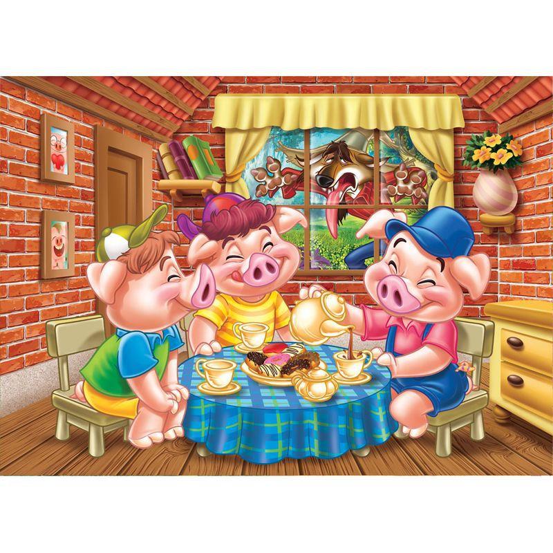 Quebra-Cabeça Progressivo - Os Três Porquinhos - Grow