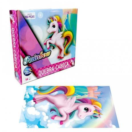 Quebra-Cabeça - Rainbow- 150 peças - Pais e Filhos