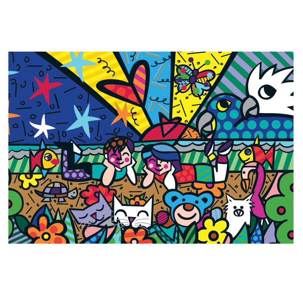 Quebra-Cabeça Romero Britto - Mias Garden - 150 Peças - Grow