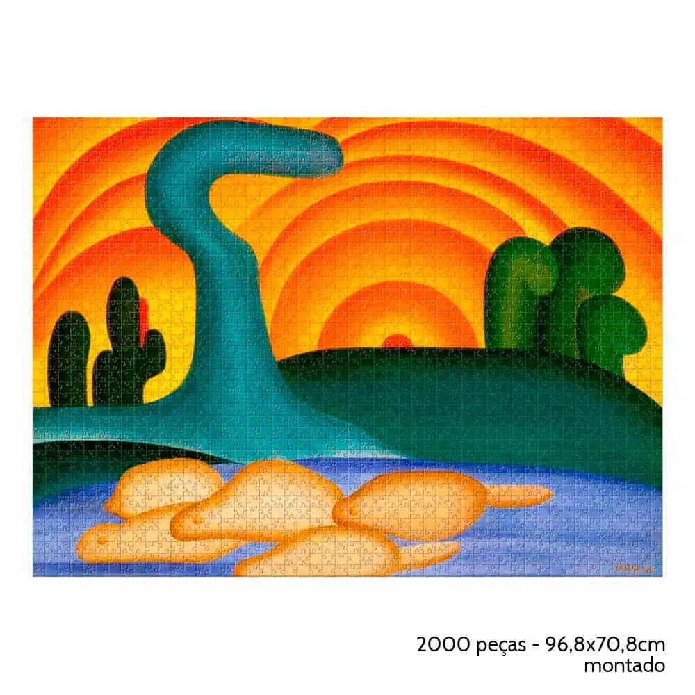 Quebra-Cabeça - Sol Poente de Tarsila do Amaral - 2000 peças - Estrela
