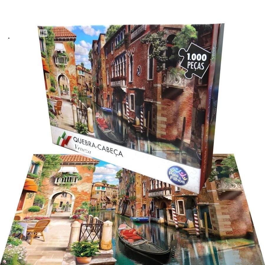 Quebra-Cabeça - Veneza - 1000 peças - Pais e Filhos