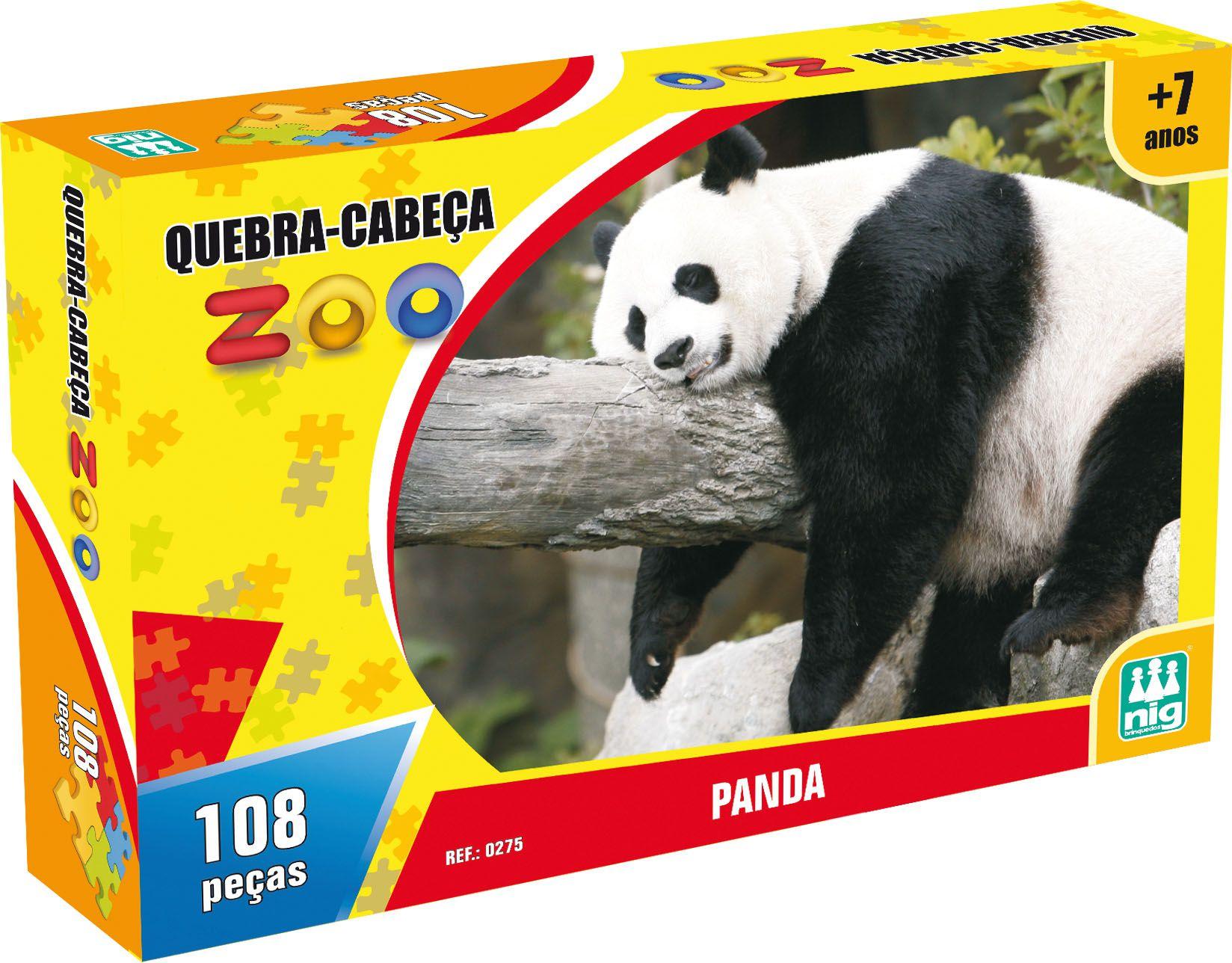 Quebra-Cabeça Zoo - Panda - 108 Peças - Nig Brinquedos
