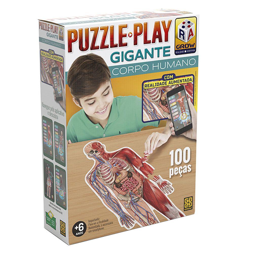 Quebra-Cabeça Gigante - Corpo Humano - 100 peças - Grow