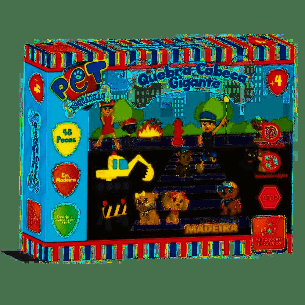 Quebra-Cabeças Gigante - Pet Esquadrão - Brincadeira de Criança