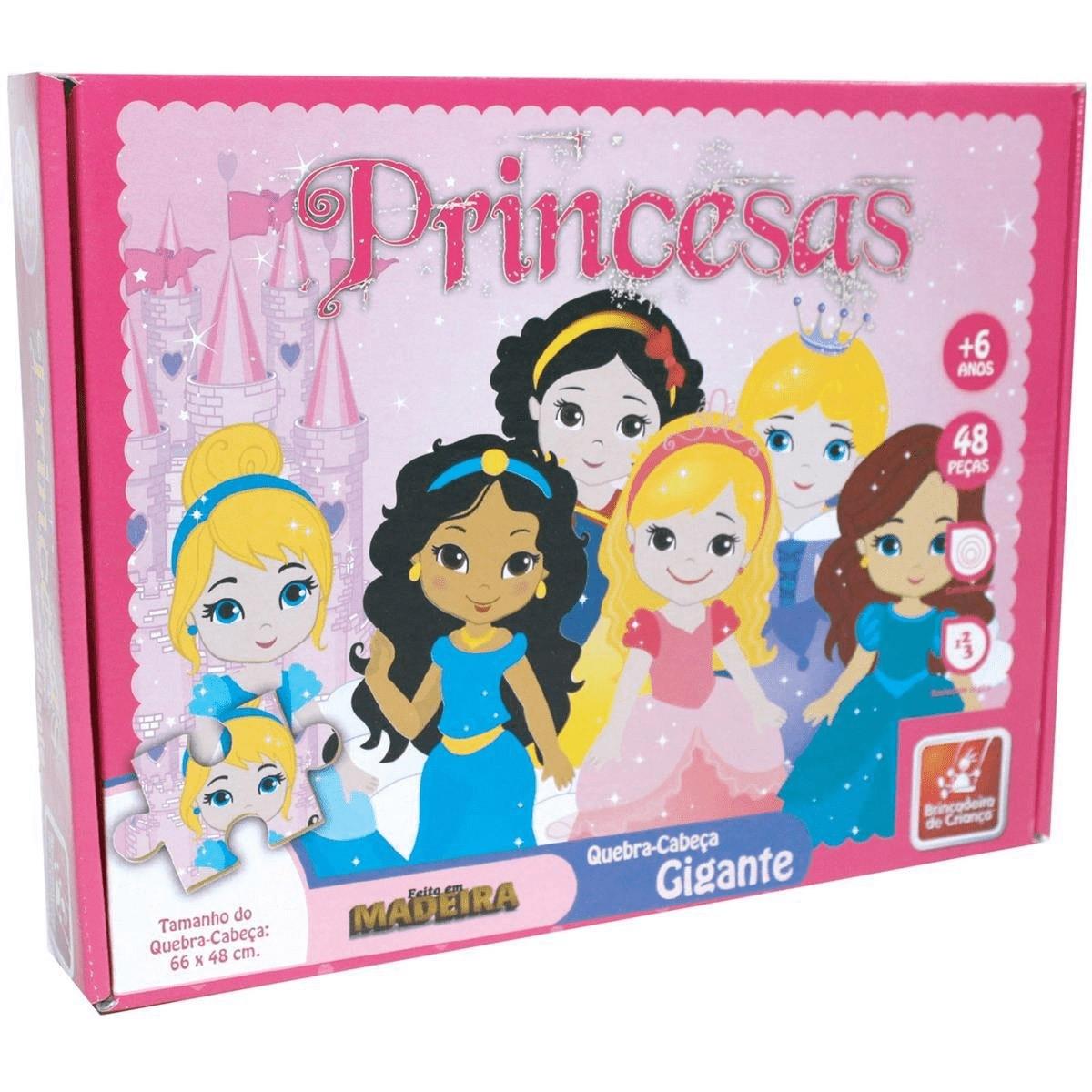 Quebra-Cabeças Gigante - Princesas - Brincadeira de Criança