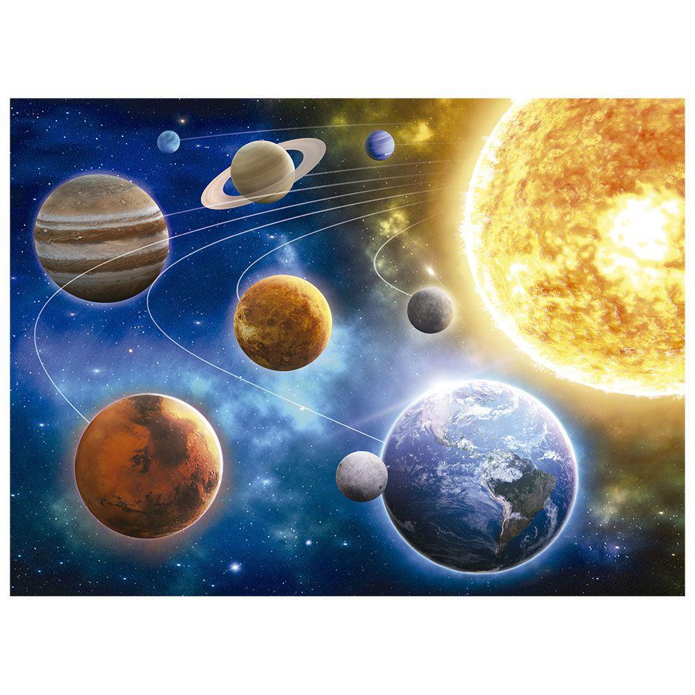 Quebra-Cabeça - 500 peças - Sistema Solar - Brilha no Escuro - Grow