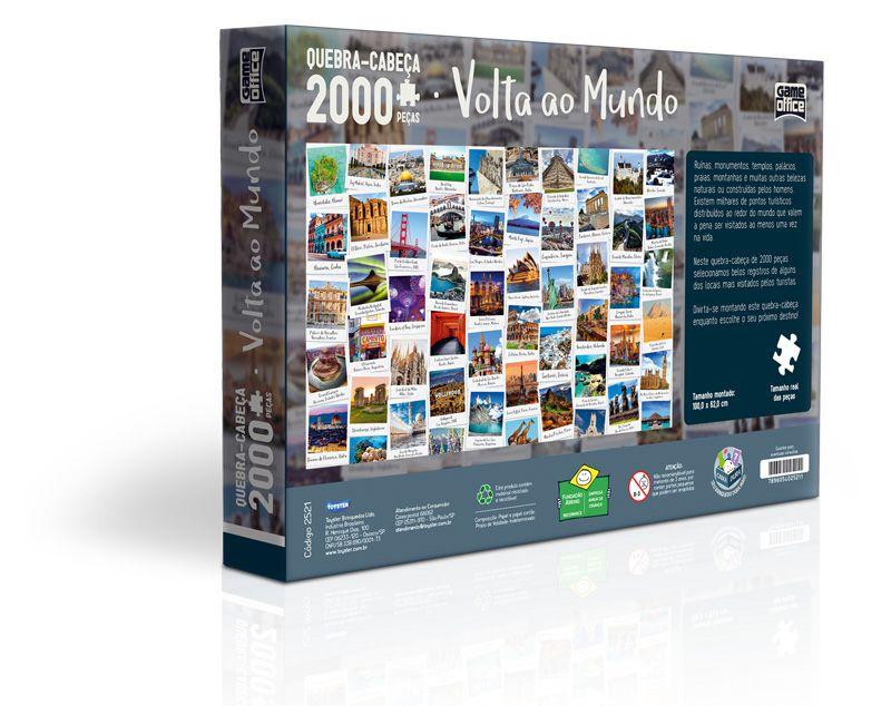 Quebra-Cabeça - Volta ao Mundo - 2000 Peças - Toyster