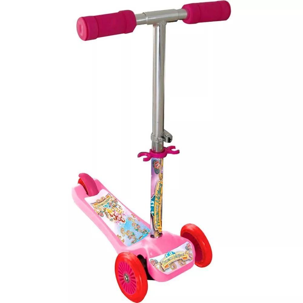 Patinete Scooter Net - Princesas Mágicas - Rosa - Com Três Rodas - Zoop Toys