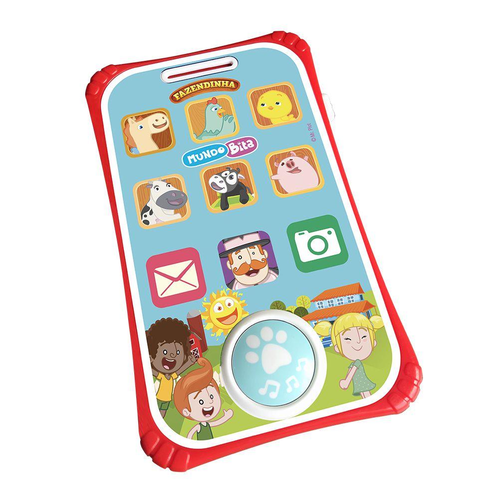 Smartphone Infantil - Fazendinha - Mundo Bita - Com Som - YesToys