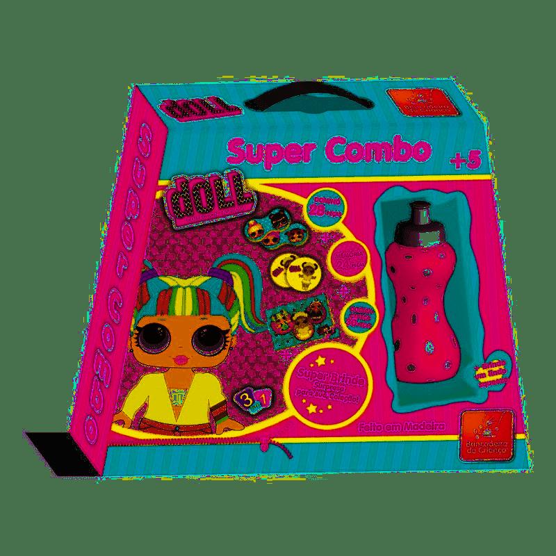 Super Combo - Dominó, Memória e Quebra-Cabeças - Doll Collection - Brincadeira de Criança