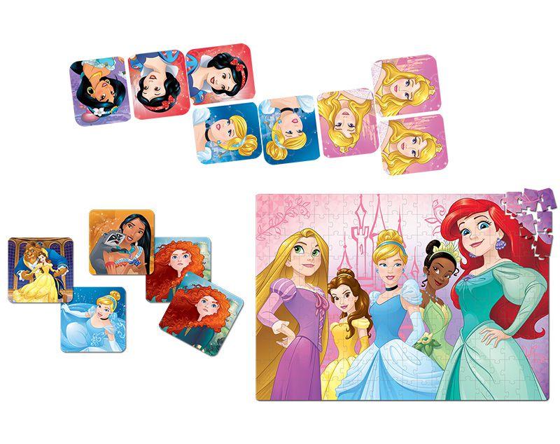 Super Kit - Dominó, Jogo da Memória e Quebra-Cabeça - Princesas Disney - Toyster