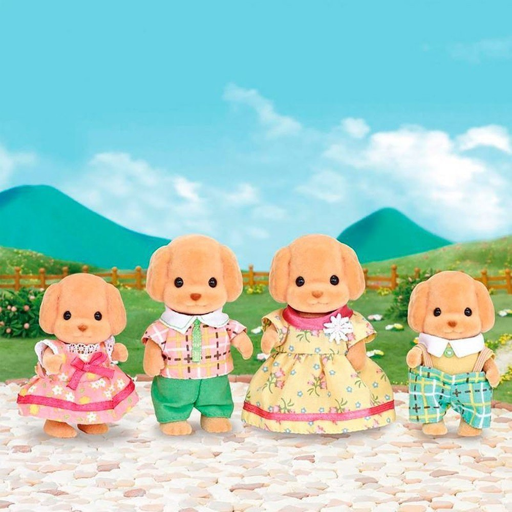 Sylvanian Families - Família Poodle Toy - Epoch