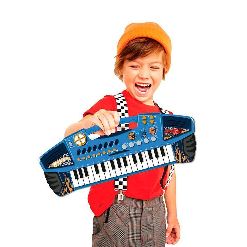 Teclado Eletrônico Infantil - Hot Wheels - Fun