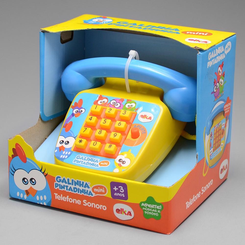 Telefone Sonoro - Galinha Pintadinha Mini - Elka