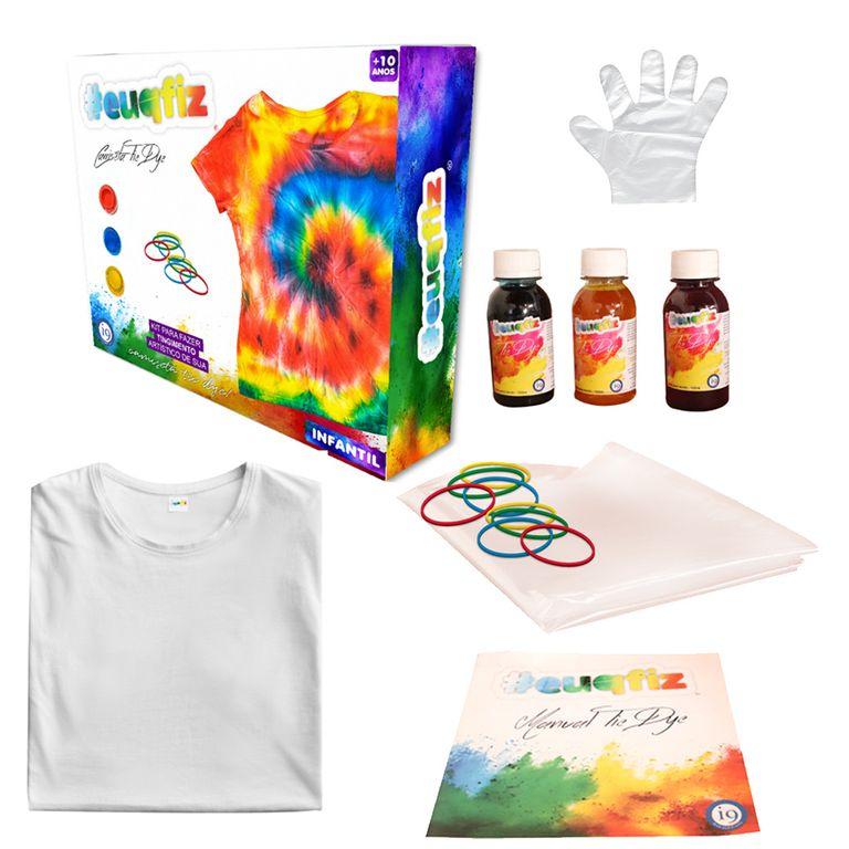 Tie Dye Camiseta Infantil P - Euqfiz - i9 Brinquedos