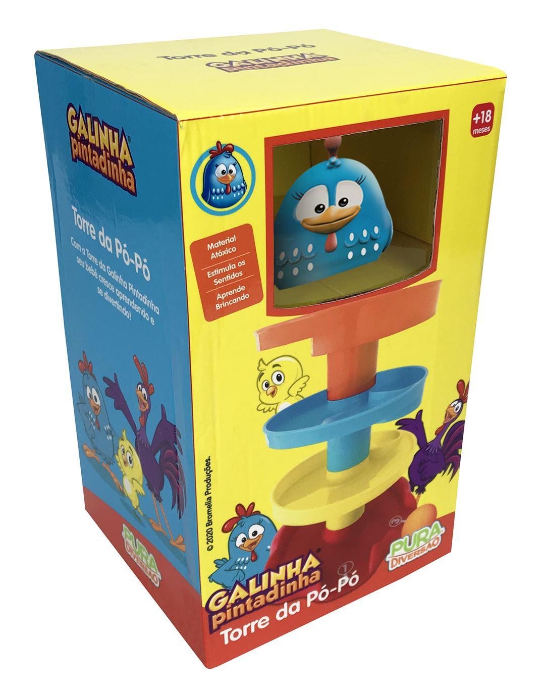 Torre da Pó-Pó - Galinha Pintadinha - Yes Toys