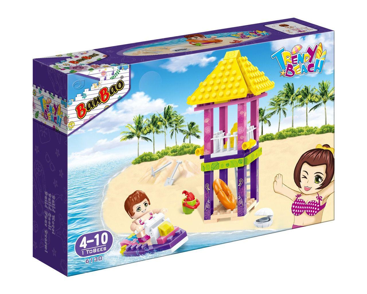 Torre Salva Vidas - Blocos Coloridos - Trendy Beach - 101 peças - Banbao