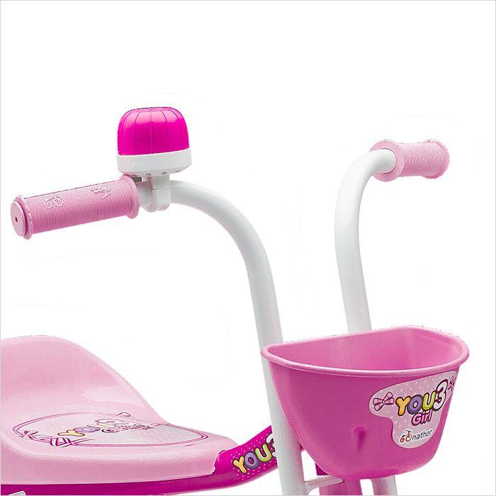 Triciclo Rosa - You 3 Girl - Nathor
