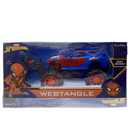 Veículo de Controle Remoto - Marvel - Spider-Man - Webtangle - Candide