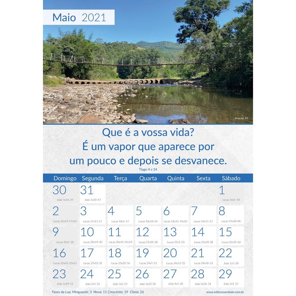 CALENDÁRIO DE PAREDE 12 PÁGINAS 2021