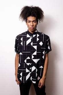 Camisa de Botão Tetris