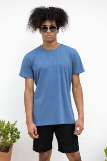 Camiseta Básica Slim Fit Azul