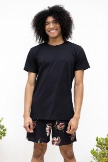 Camiseta Básica Slim Fit Preta