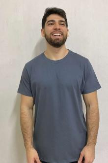 Camiseta Estonada Básica Chumbo