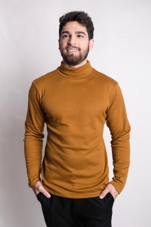 Suéter Gola Alta E.T. Mostarda