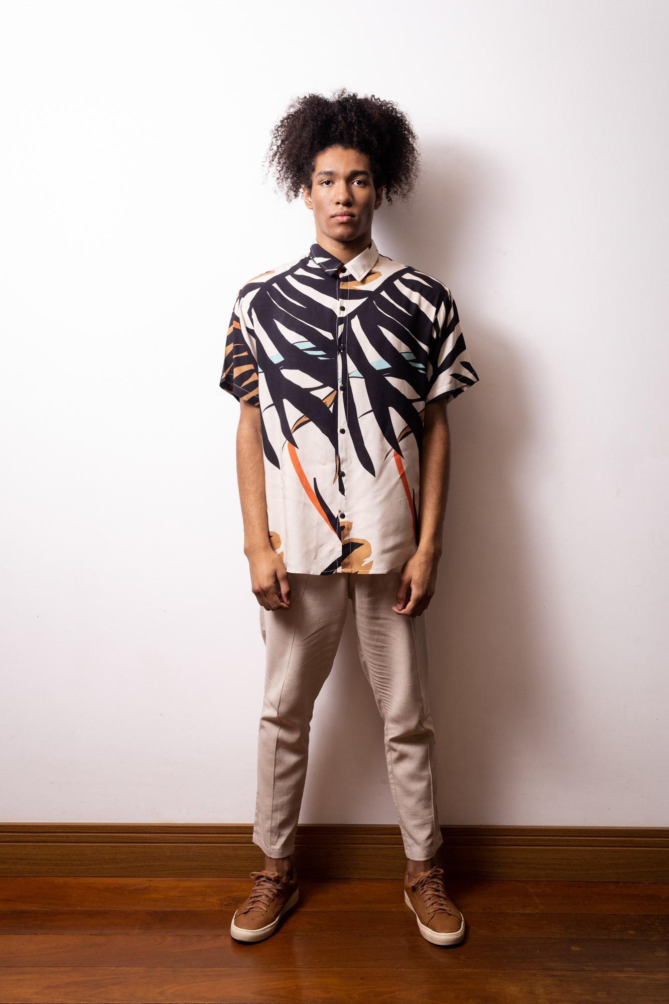 Camisa de Botão Bromélias