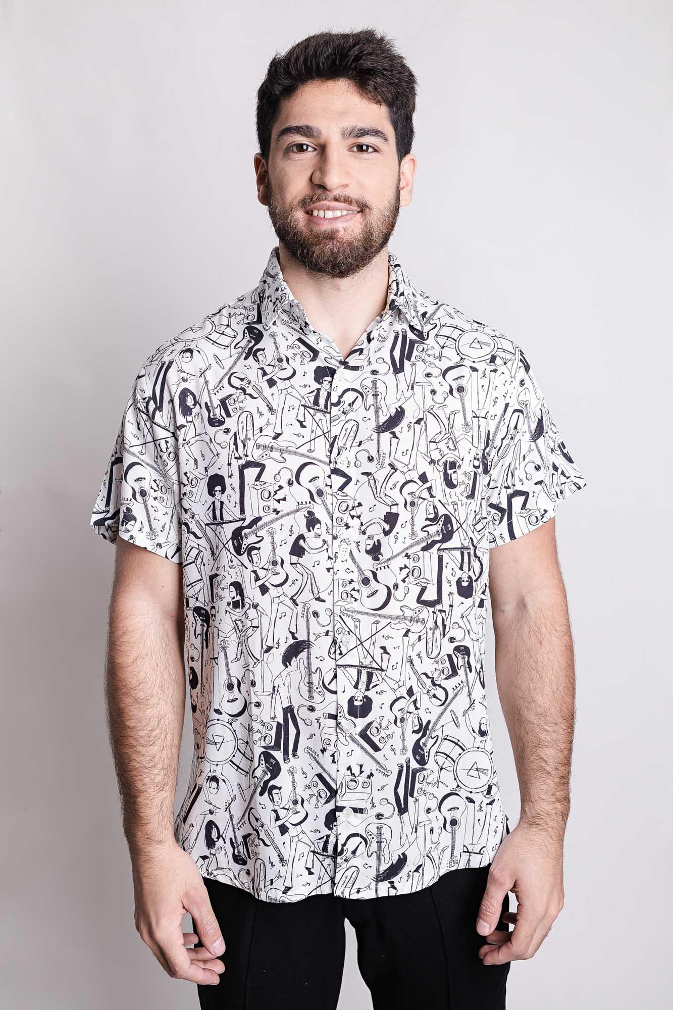 Camisa de Botão Rockabilly