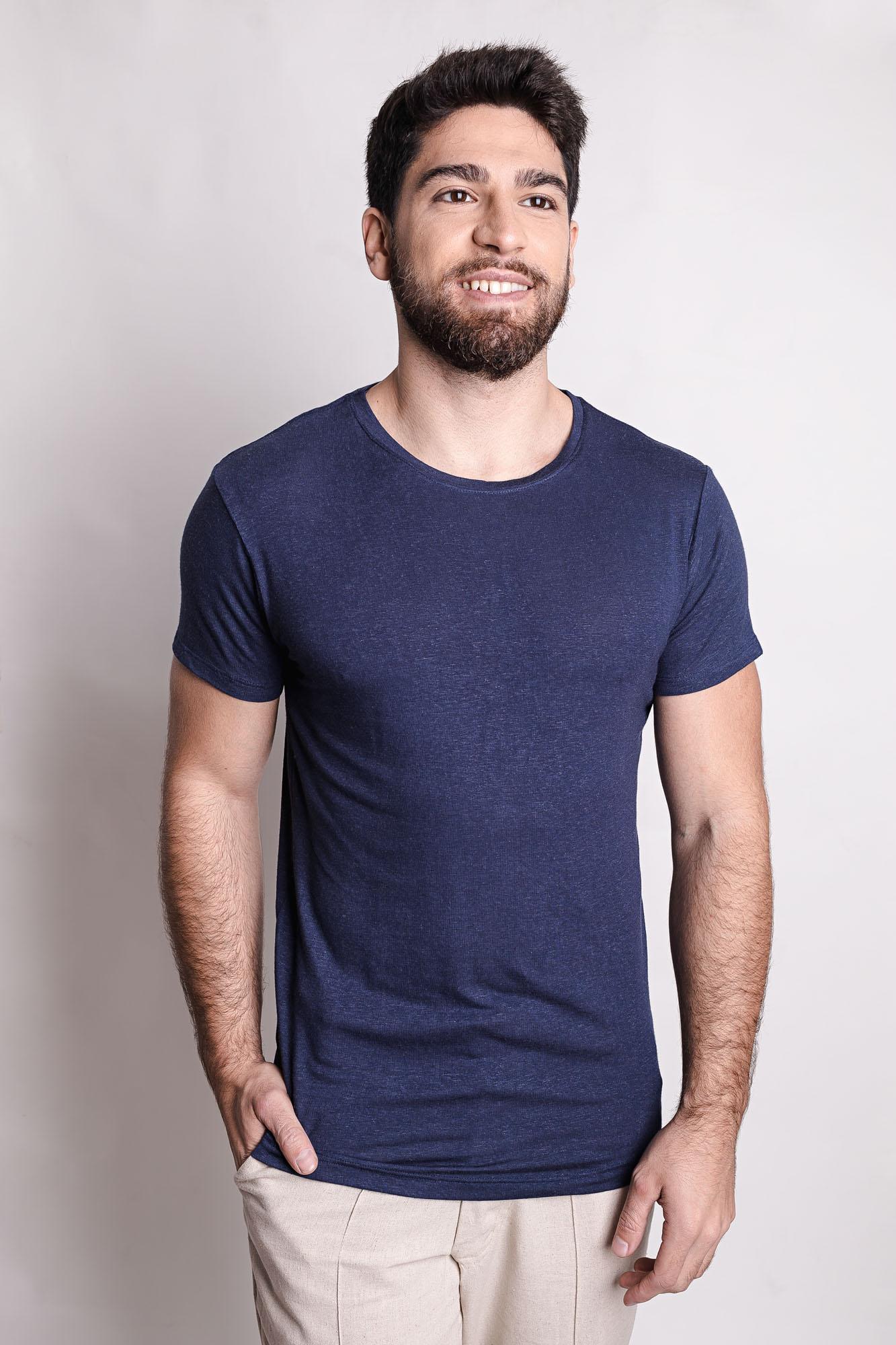 Camiseta de Linho Footloose Marinho
