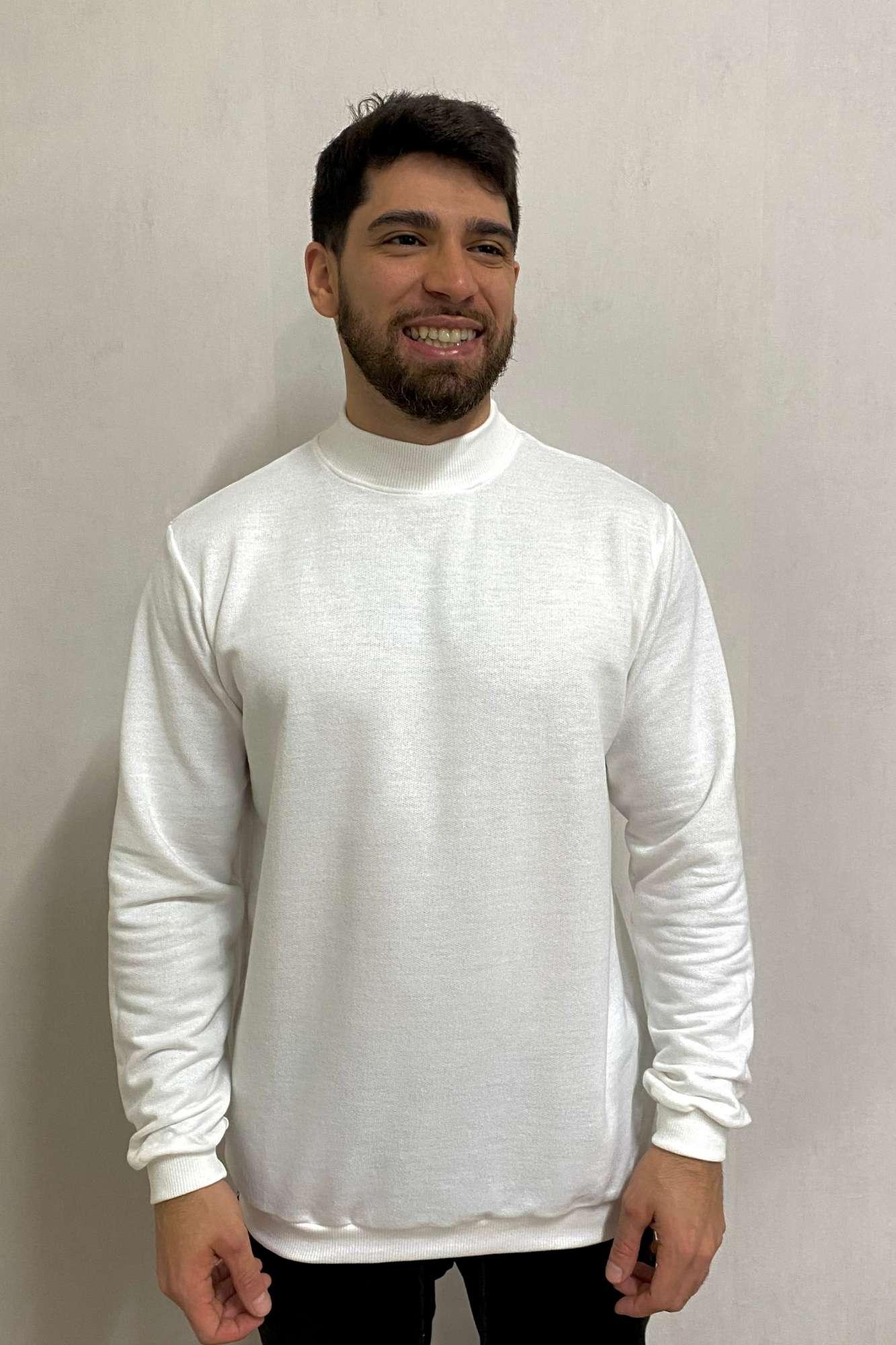 Suéter Gola Alta Branco SOUL
