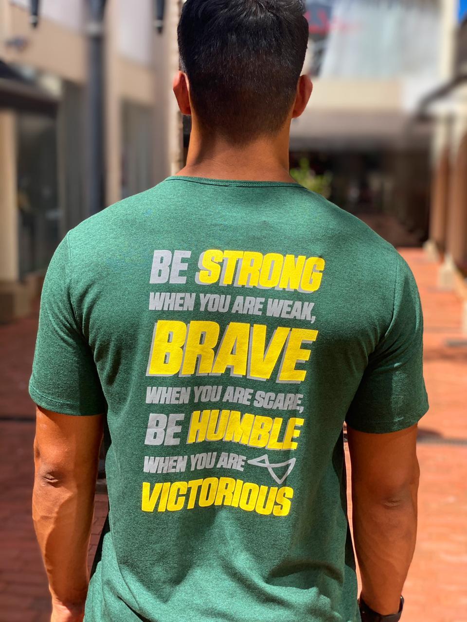 Camiseta Be Brave Verde Militar