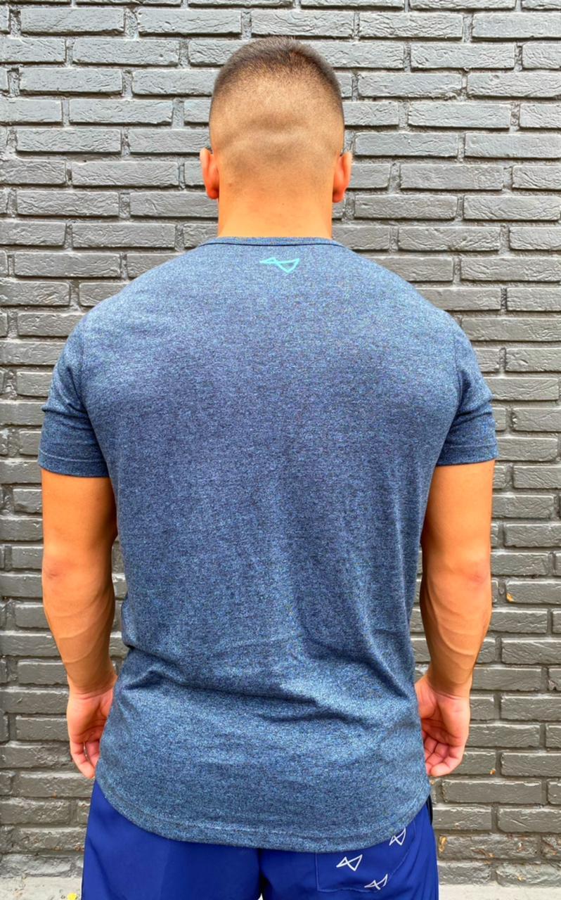 Camiseta JerkBox Preto Mescla Azul