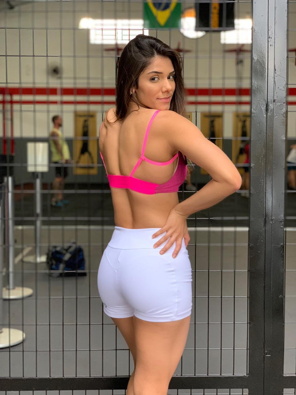 Short Round Branco
