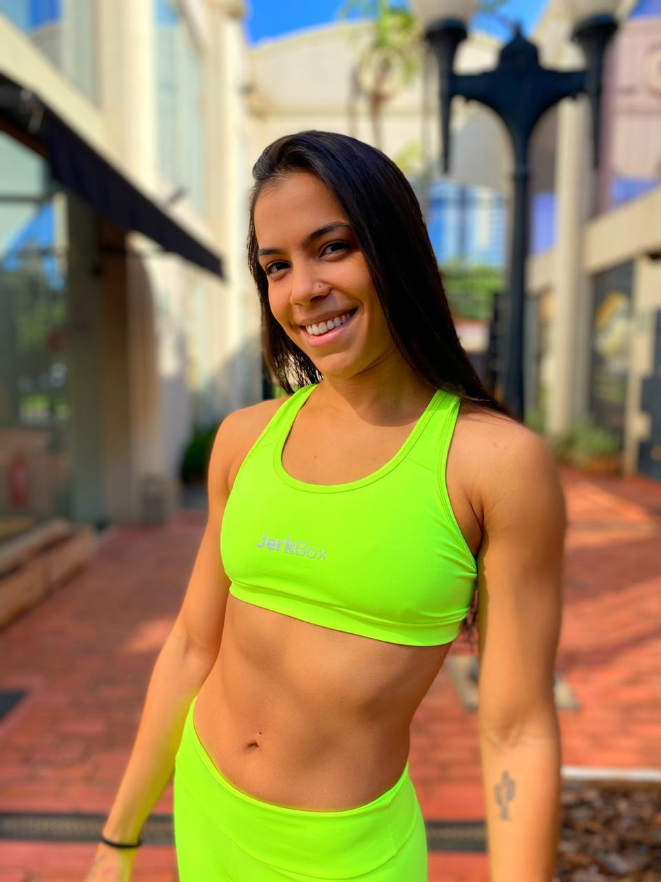 Top Amanda Amarelo Neon