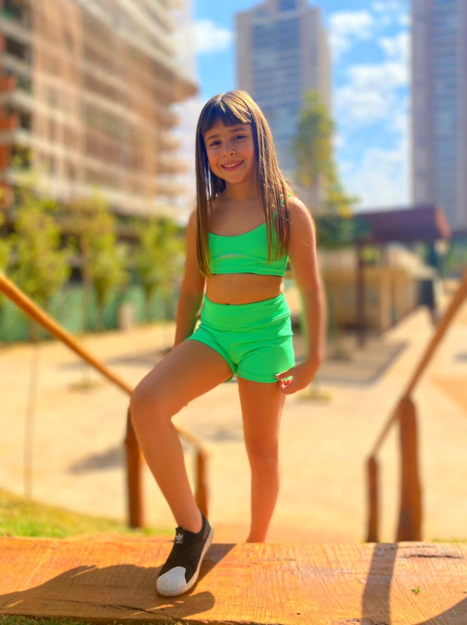 Top Karen Chumbo e Verde Cancun (Duplaface) - Kids