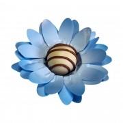 Forminha para Doces Finos Peônia em Papel Especial Azul Serenity Kit 40 Unidades