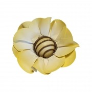 Forminha para Doces Margarida em Papel Especial Amarelo Kit 40 Unidades
