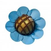 Forminha para Doces Margaridinha em Papel Especial Azul Serenity Kit 50 Unidades