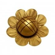 Forminha para Doces Margaridinha em Papel Especial Dourado Kit 50 Unidades