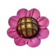 Forminha para Doces Margaridinha em Papel Especial Pink Kit 50 Unidades