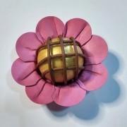 Forminha para Doces Margaridinha em Papel Especial Rosa Chá Kit 50 Unidades