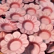 Forminha para Doces Margaridinha em Papel Especial Rosa Seco Kit 50 Unidades