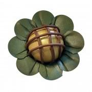 Forminha para Doces Margaridinha em Papel Especial Verde Musgo Kit 50 Unidades