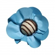 Forminha para Doces Mini Margarida em Papel Especial Azul Tifany Kit 40 Unidades